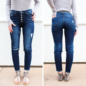 NWT Flying Monkey Jeans Love Game Button Skinny